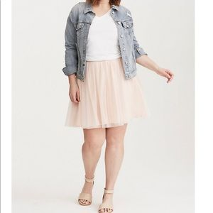 Torrid | Blush Pink Tulle Mini Skirt Size 0